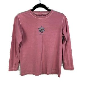 LIFE IS GOOD Flower Graphic Long Sleeve Shirt S